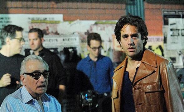 Martin Scorsese y Bobby Cannavale durante el rodaje