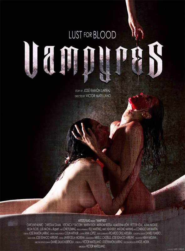 Póster de la película 'Vampyres'.