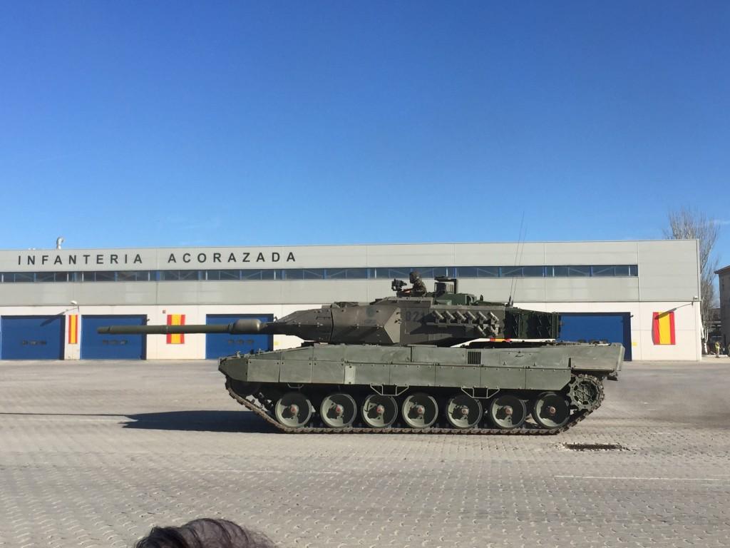 El tanque, en acción