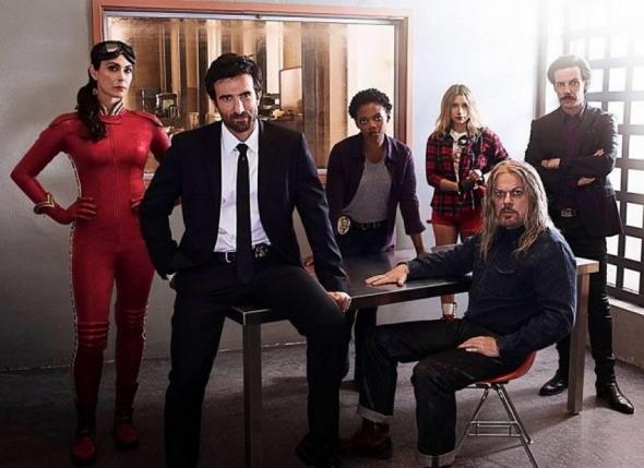 Una imagen del reparto de la serie Powers