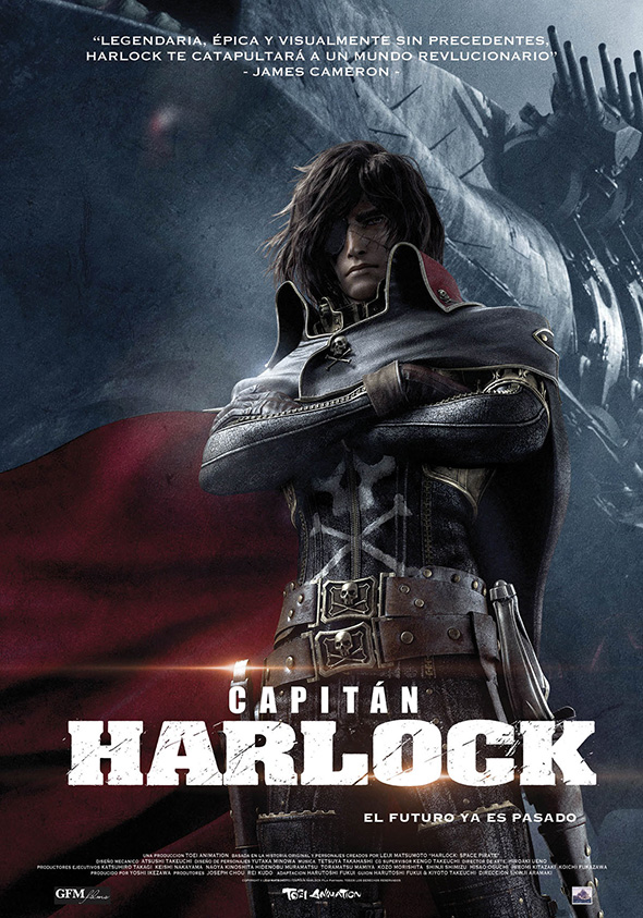 Póster en español de la película Capitán Harlock
