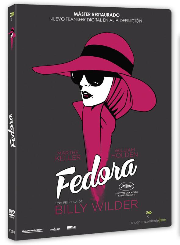 Carátula del DVD de 'Fedora'