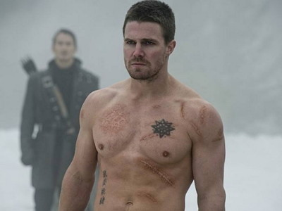 Oliver Queen en un fotograma de Arrow