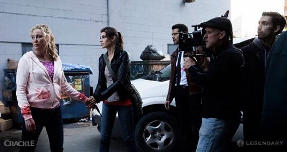 Una imagen del rodaje de la película Dead Risign: Watchtower