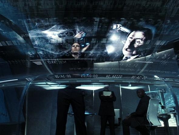 Un fotograma de la película Minority Report