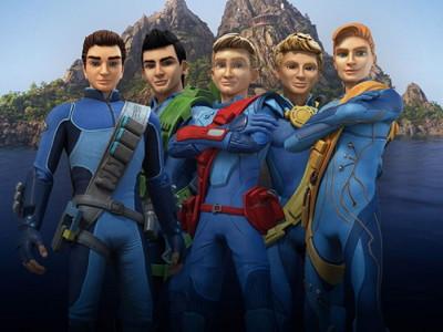 Una imagen de losTracey en la nueva versión de 'Thunderbirds are Go'