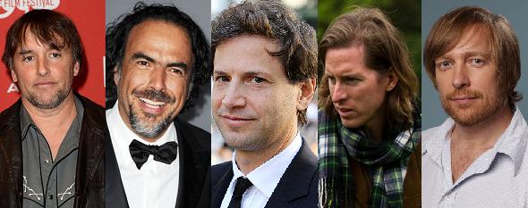 Richard Linklater, Alejandro G. Iñárritu, Benett Miller, Wes Anderson y Morten Tyldum