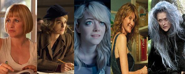Patricia Arquette, Keira Knightley, Emma Stone, Laura Dern y Meryl Streep
