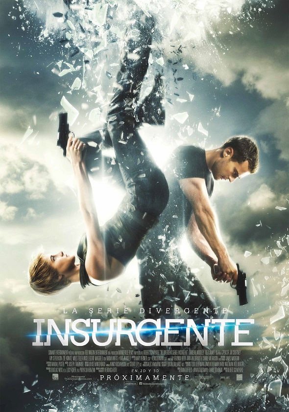 Cartel final de Insurgente es la segunda entrega de la Trilogía Divergente