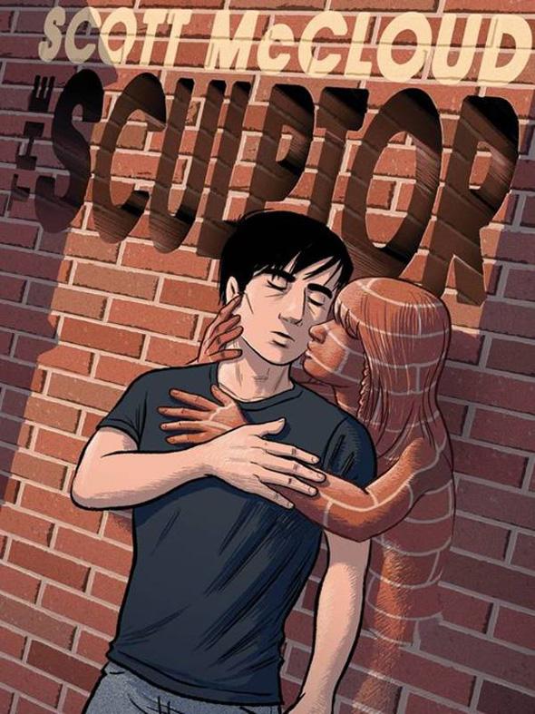 Imagen de la Portada de la novela gráfica The Sculptor