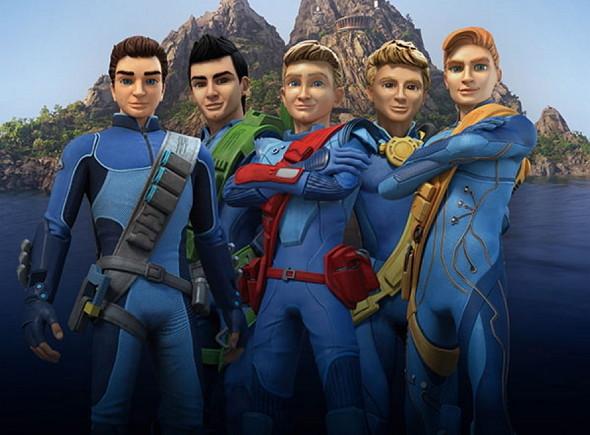 Una imagen de los Tracey, Los Thunderbirds