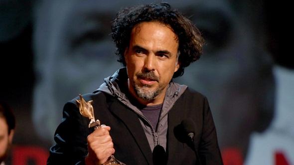Alejandro González Iñárritu recoge el premio de 'Birdman'