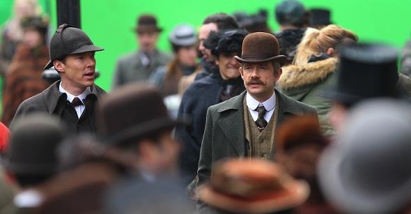 Benedict Cumberbatch y Martin Freeman vuelven a protagonizar las aventuras de Sherlock Holmes