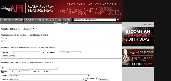 AFI Catalog of feature films