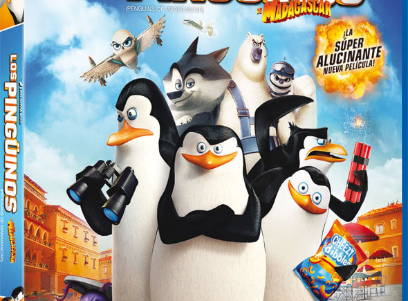 Blu-ray 'Los pingüinos de Madagascar'