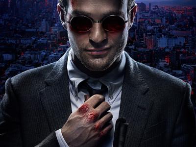 Imagen de Charlie Cox en el póster de 'Daredevil'