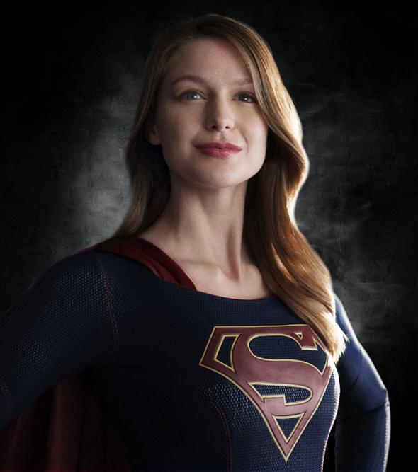 Un primer plano de Melissa Benoist como Supergirl