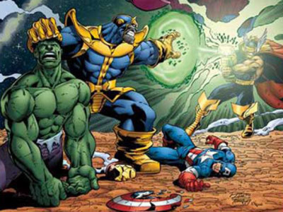 Thanos contra los Vengadores