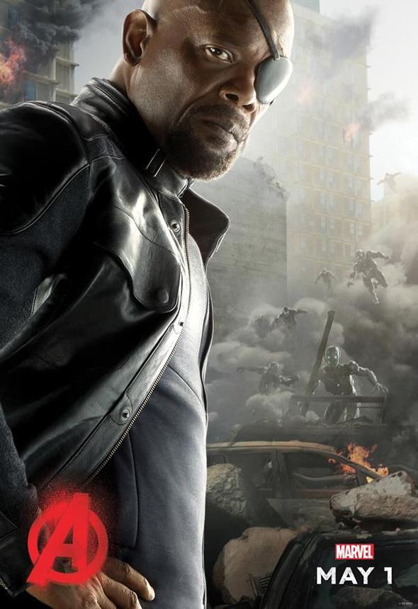 Nick Furia protagoniza el póster de Vengadores: la era de Ultrón (Avengers: age of Ultron)