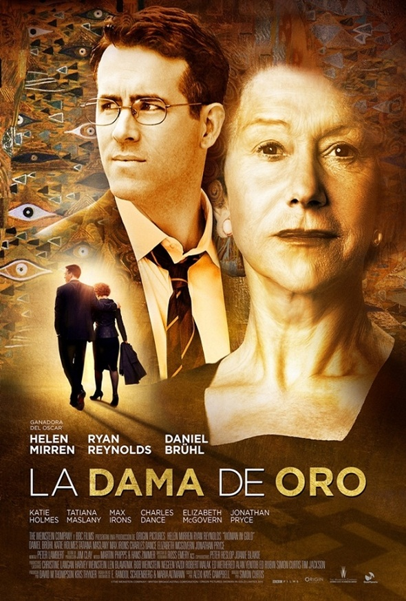 Póster español de 'La dama de oro'