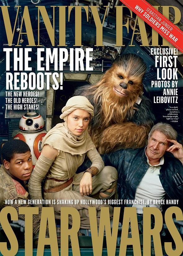 Portada de Vanity Fair sobre 'Star Wars: Episodio VII- El despertar de la Fuerza'