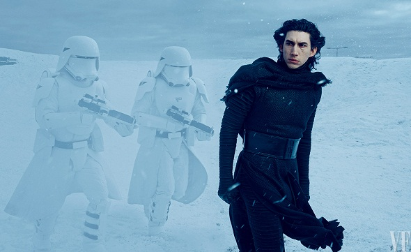 Adam Driver es Kylo Ren en 'Star Wars: Episodio VII- El despertar de la Fuerza'