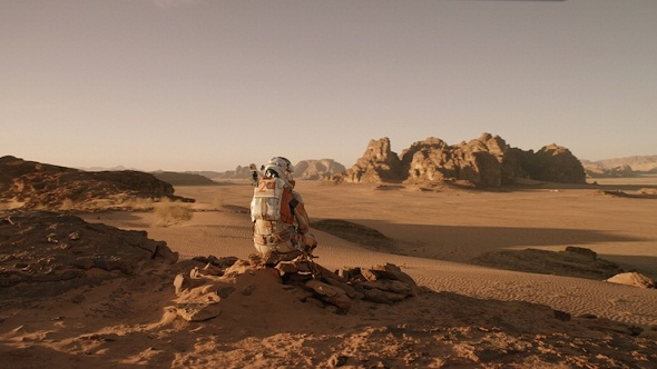 El desolado paraje de Marte en el film 'The martian'