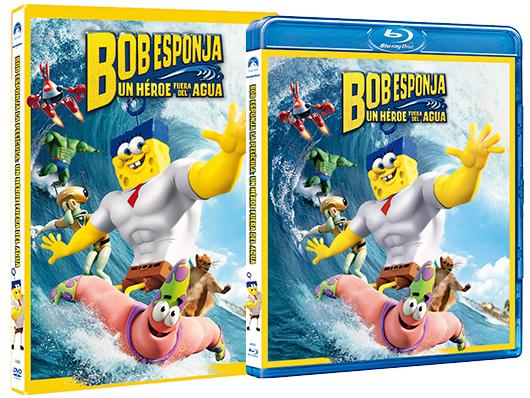 Edición de Bob Esponja un heroe fuera del agua en DVD y BD