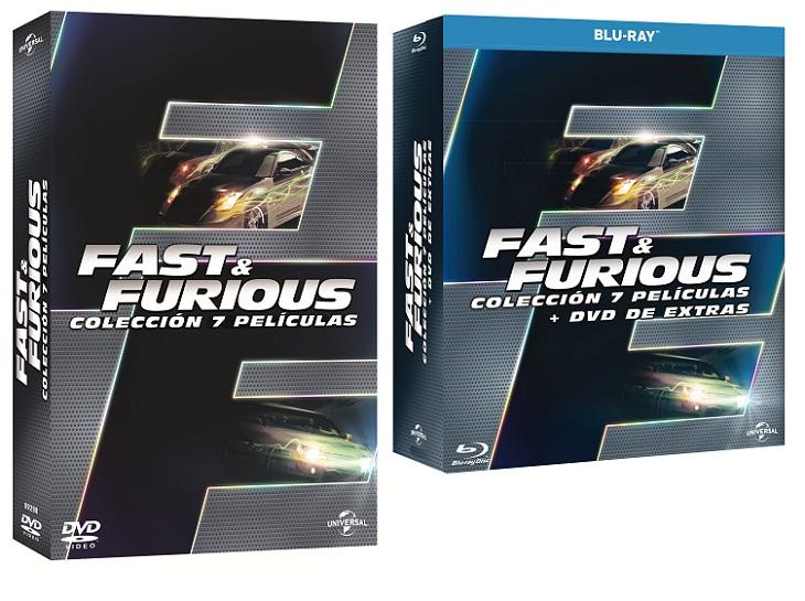 Edición de las siete películas de  Fast&Furious