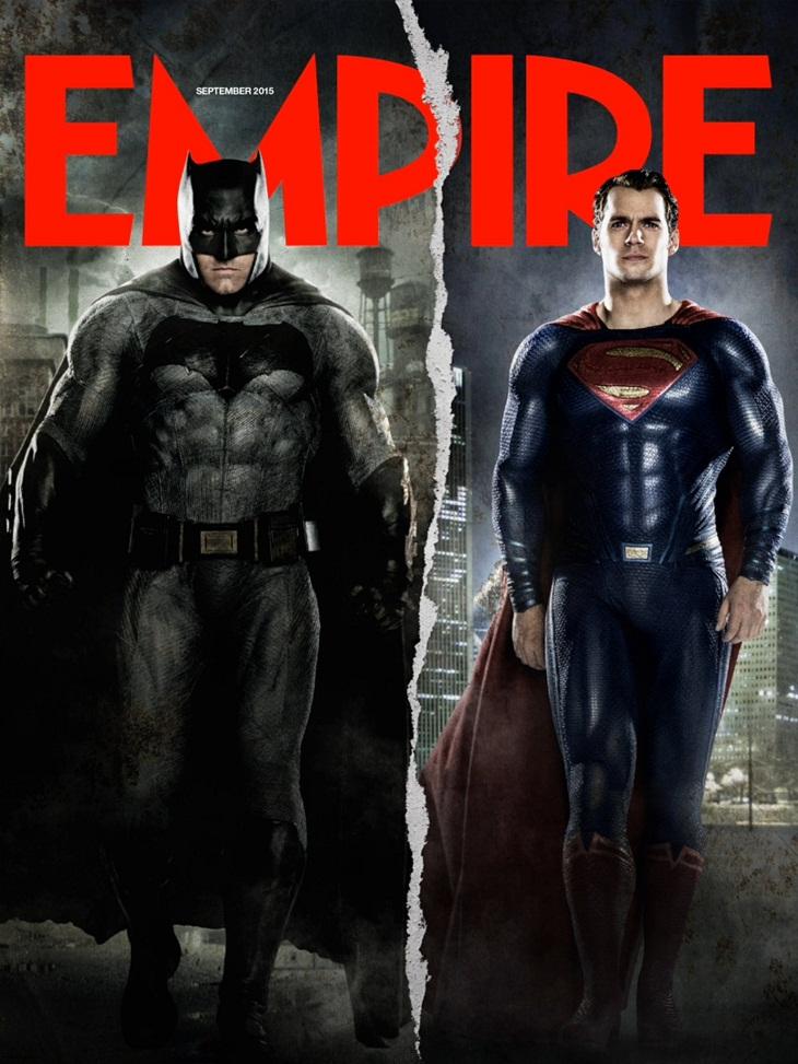 Portada de Empire para 'Batman v Superman: El amanecer de la justicia'