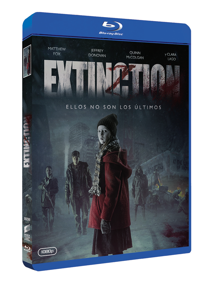 Portada del Bluray de Extinction