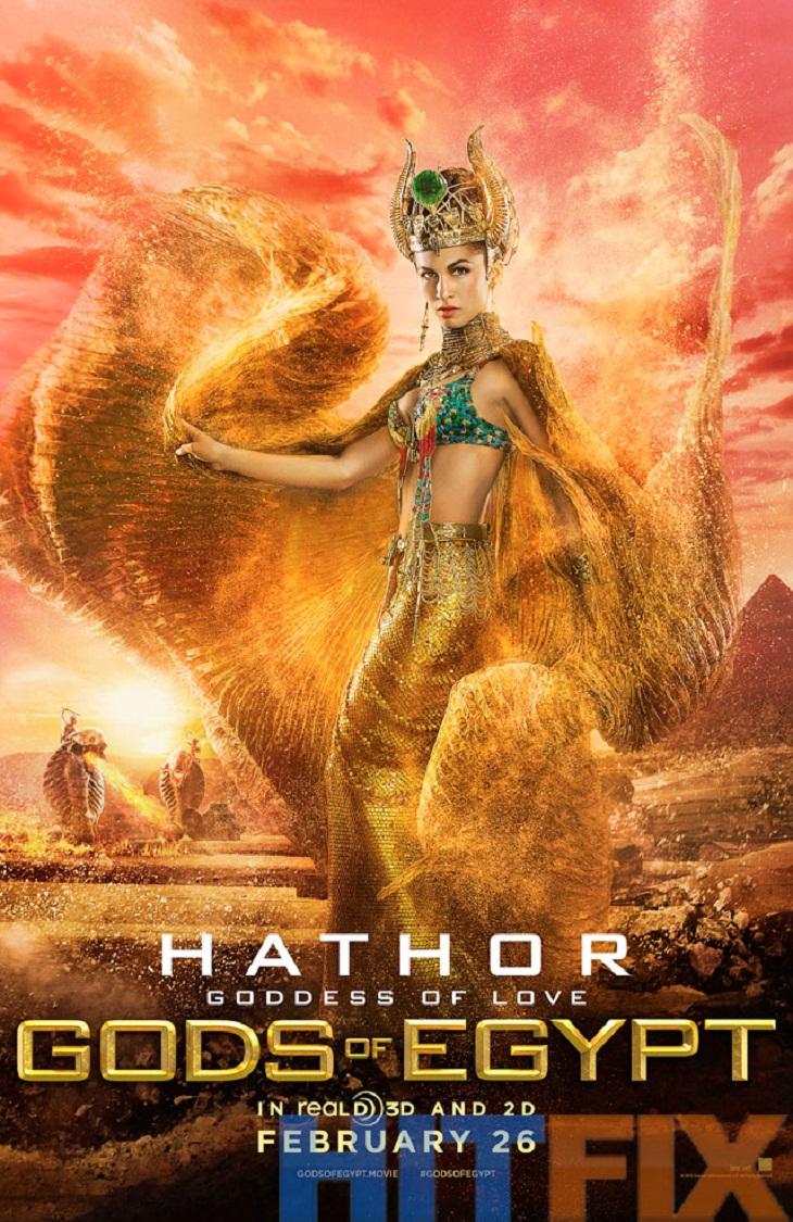 La diosa Hator también tiene su cartel para 'Gods of Egypt'