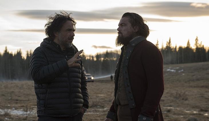 González Iñárritu y DiCaprio durante el rodaje