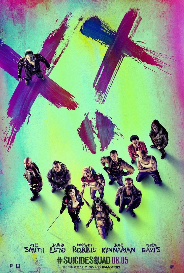 Protagonistas reunidos para el cartel de 'Escuadrón suicida'
