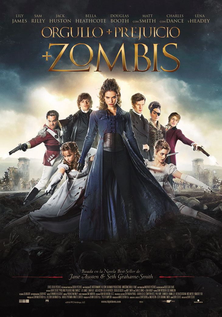 Póster de Orgullo+Prejuicio+Zombis (Pride and Prejudice and Zombies