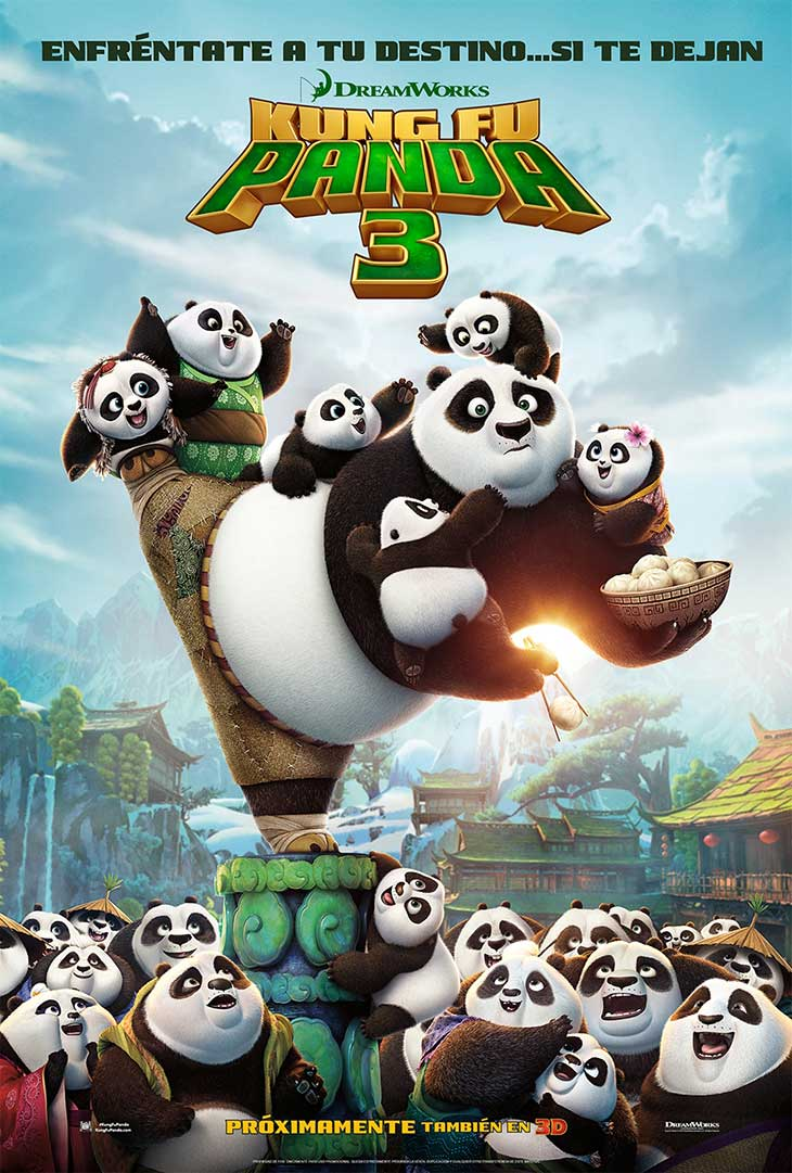 Póster en español de Kung Fu Panda 3