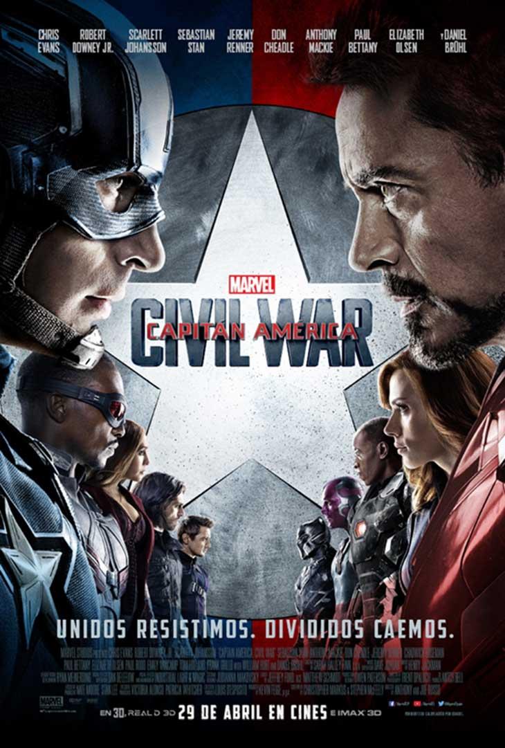 Póster de personajes de Capitán América: Civil War