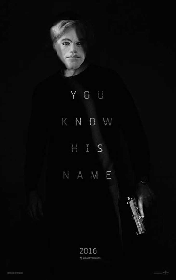 Póster de Jason Bourne con motivo del April Fool`s Day