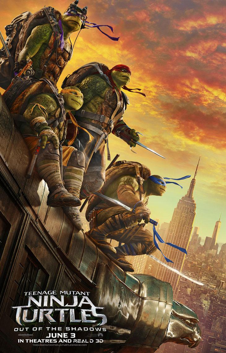 Póster de Ninja Turtles: fuera de las sombras