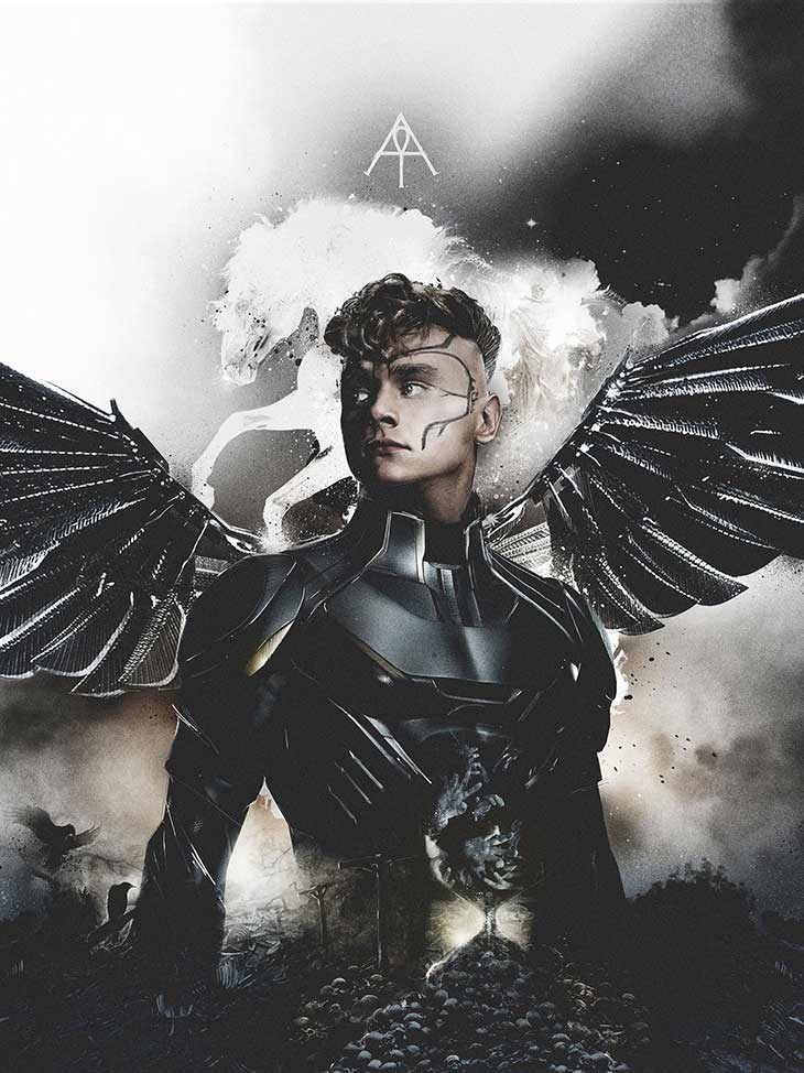 X Men Apocalipsis Póster de Angel