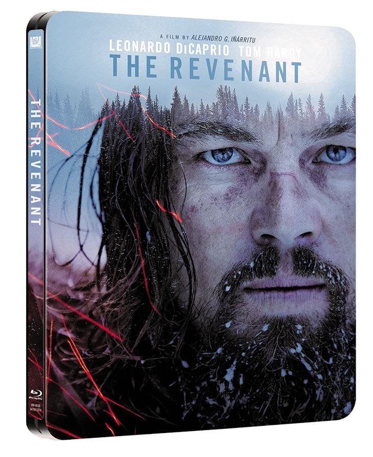 Portada Blu Ray edición metálica de El renacido