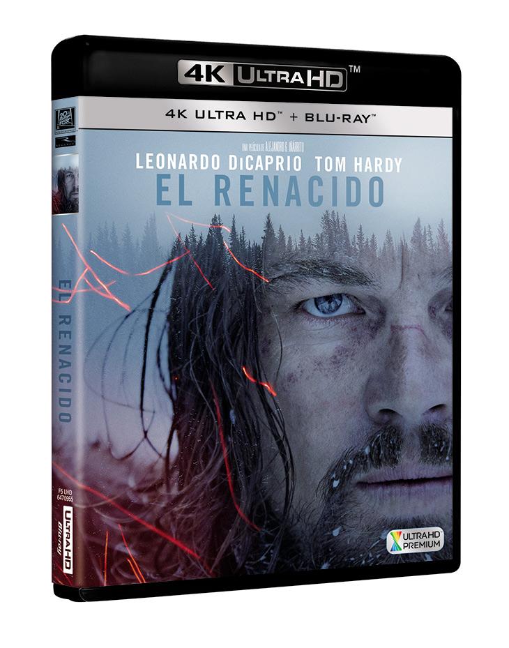 Portada Blu Ray uhd 3d de El renacido