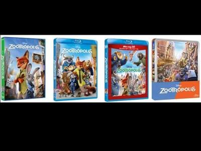 Carátulas d e'Zootrópolis', ya en DVD y en Alta definición destacada