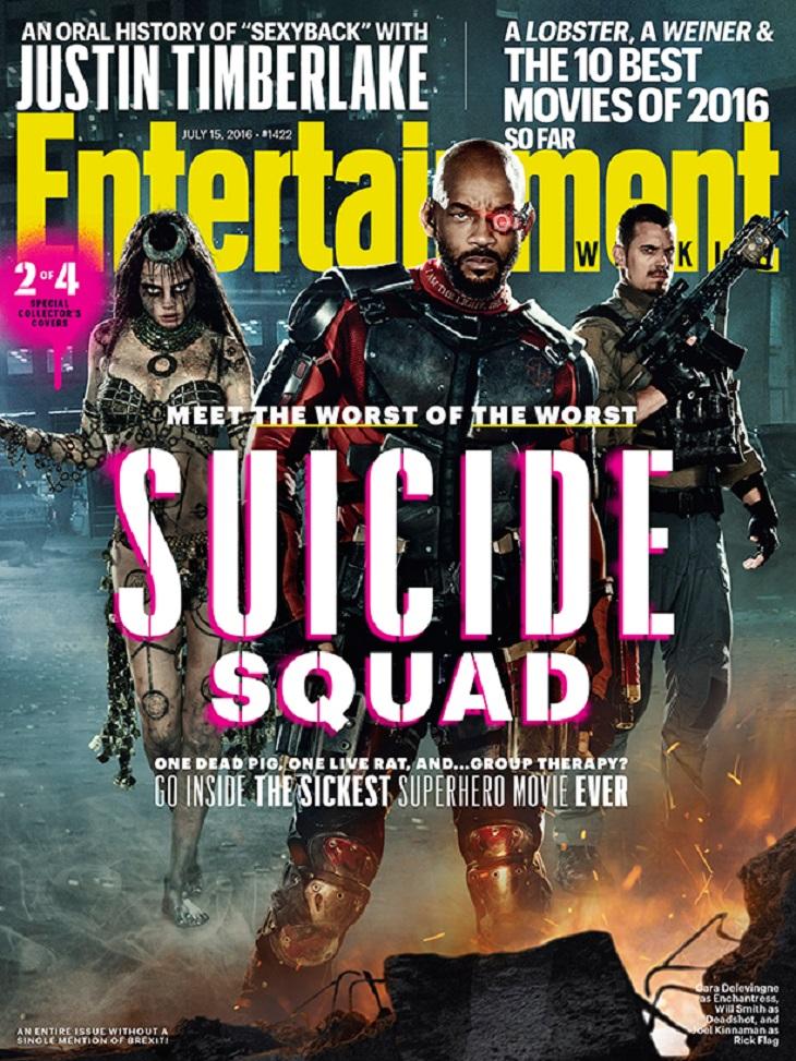 Otra de las portadas de la adaptación de 'Suicide squad'