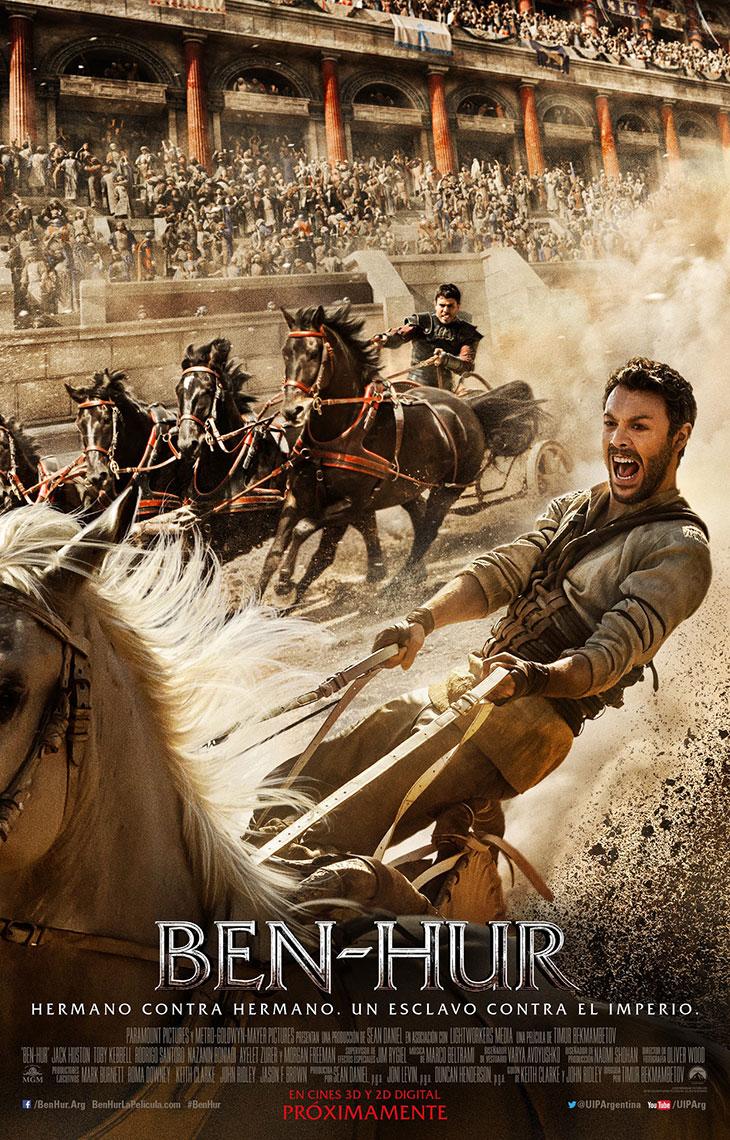 Póster en español del remake de Ben-Hur