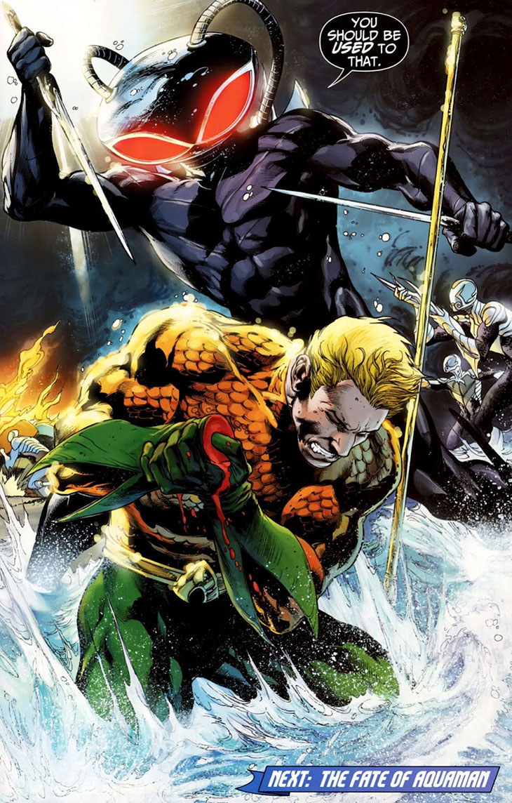 Aquaman contra Black manta