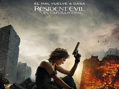 Póster en español de Resident Evil: el capítulo final destacada