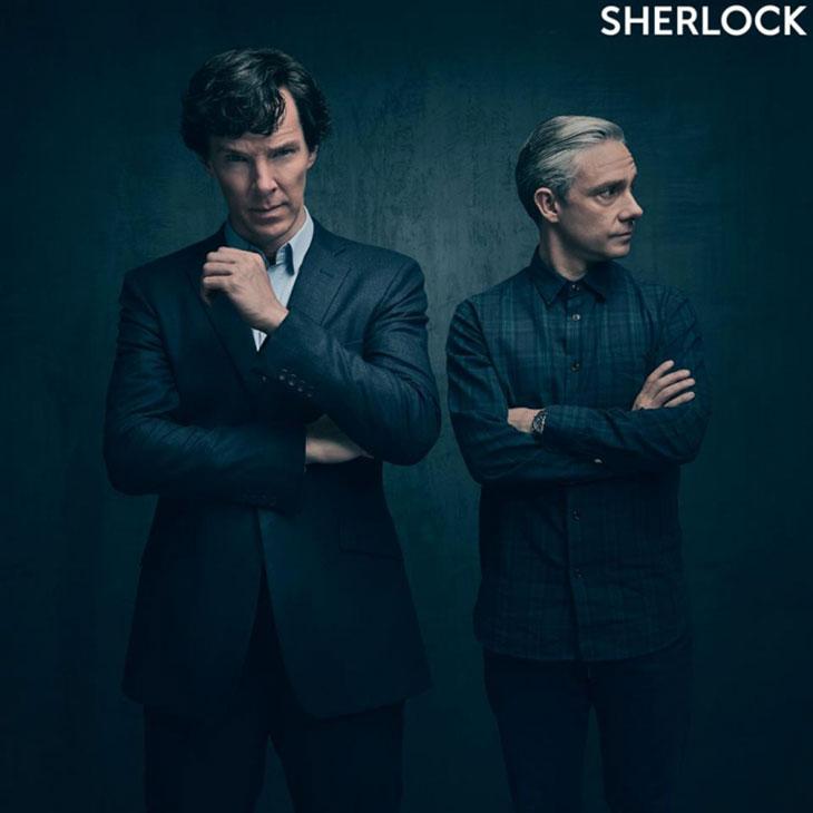 Benedict Cumberbatch y Martin Freeman en Sherlock
