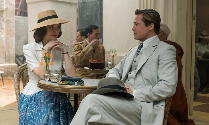 Marion Cotillard y Brad Pitt en 'Aliados'