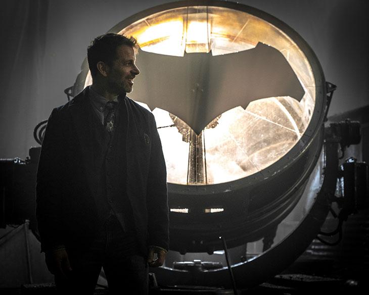 Zack Snyder en el set de Justice League